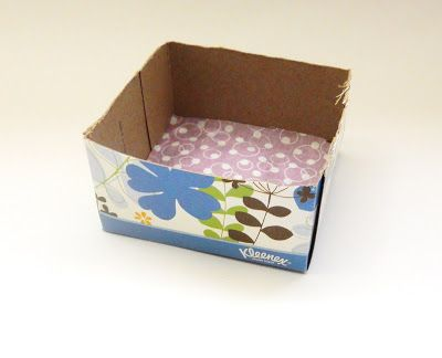 Hometalk :: DIY Note Pad Holder From Empty Tissue Box