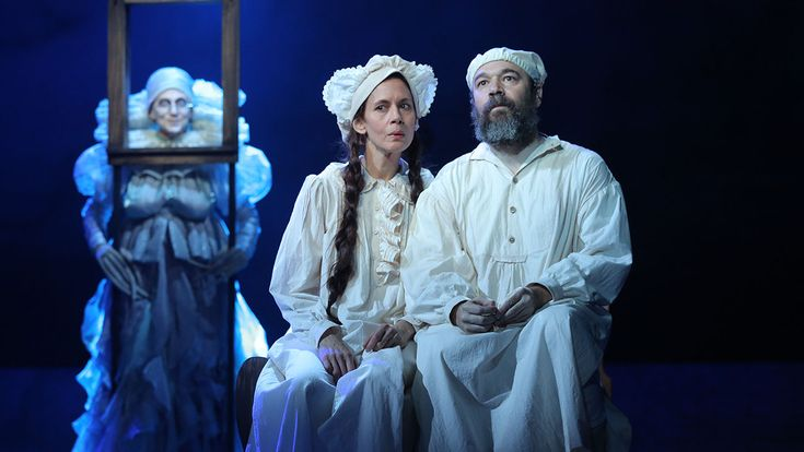 "Lori Wilner as Grandma Tzeitel, Jessica Hecht as Golde, and Danny Burstein as Tevye in the Bartlett Sher-directed revival of Fiddler on the Roof (2015). I love that THR's reviewer opined that ""The unforced warmth of his big-hearted performance could heat the whole theater through winter"" and that ""Burstein's naturally jovial manner is well matched with the invaluable Jessica Hecht..."" I want to see this so badly!"