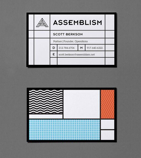 164 best business cards images on pinterest visit cards business nirtober via assemblism on behance cool business cardsbusiness reheart Images