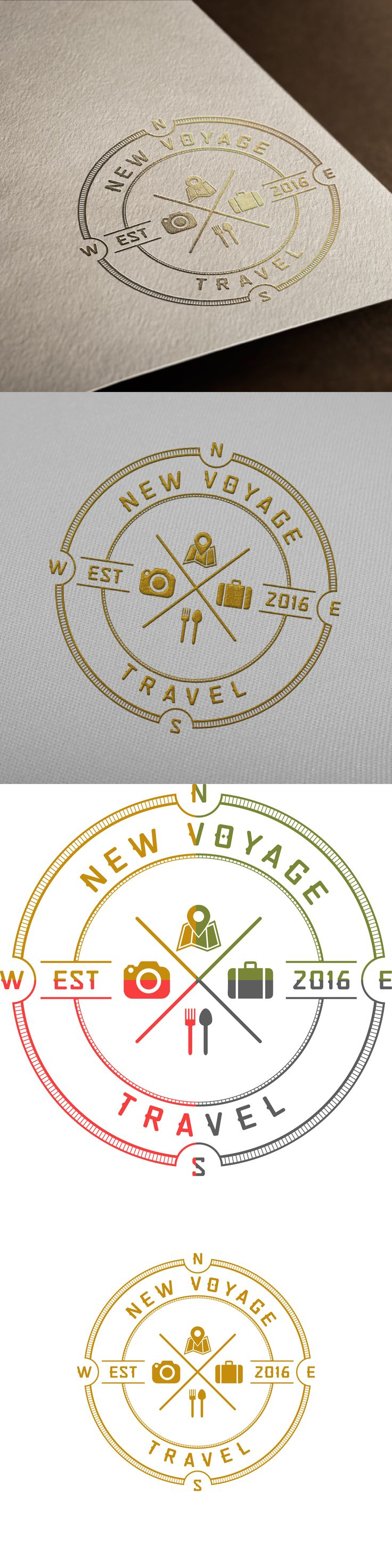 Logo design for NEW VOYAGE TRAVEL