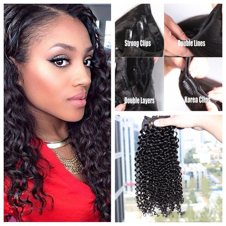 91 best clip in human hair extension images on pinterest wigs natural looking clip in kinky curly human hair extensions 8pcsset 200g full head best pmusecretfo Images
