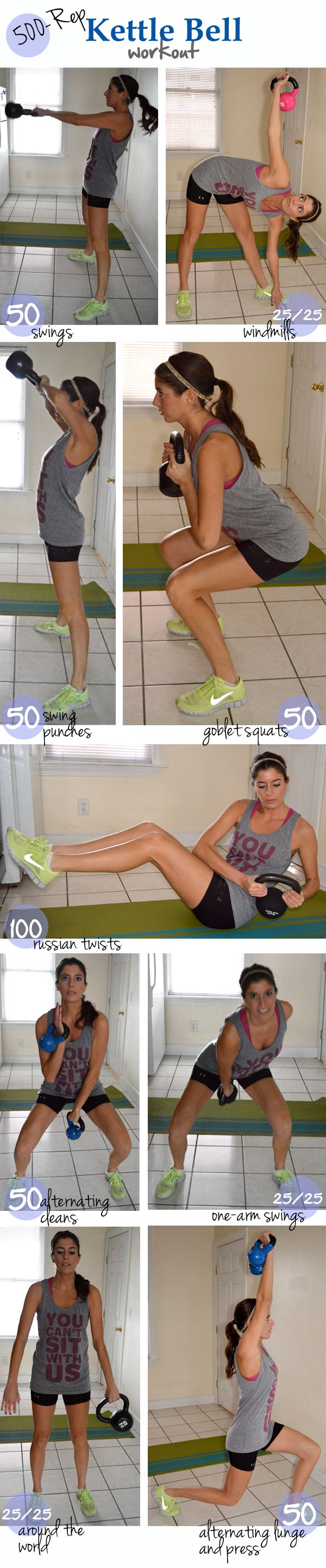 500-rep kettle bell workout
