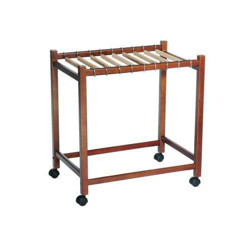 Nick Compact Rolling Pant Trolley with Cedar Hangers gives you mobile storage for your pants and prevents wrinkling by evenly spacing them on the display.