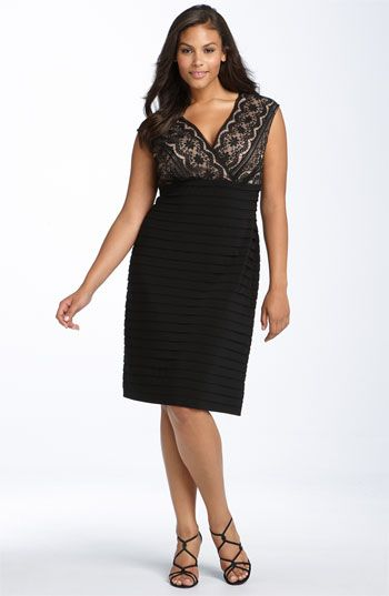 We welcome every plus-size professional woman who wants to build a closet of modern, elegant and well fitting work wear and invite you to visit www.executive-image-consulting.com for more information. Adrianna Papell Lace Bodice Banded Dress (Plus) available at Nordstrom