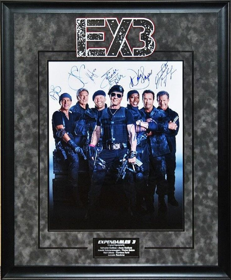 Expendables 3 - Signed by Cast - Framed Artist Series