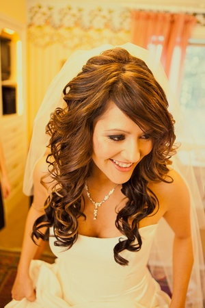 Wedding day hair. love this.