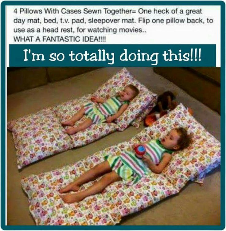 4 pillows sewn together. Flip one pillow back to create a head rest. Amazing and easy to do!