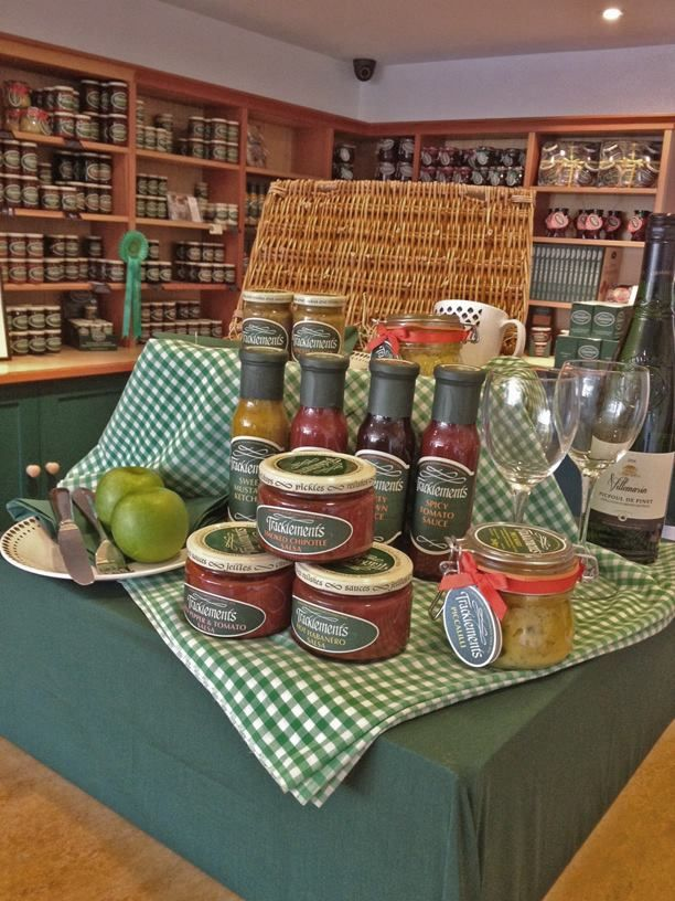 Summer has come to our Tracklements shop!  We are dreaming of picnics and al fresco dining... #Tracklements #Picnic #Condiments #Wine #Food