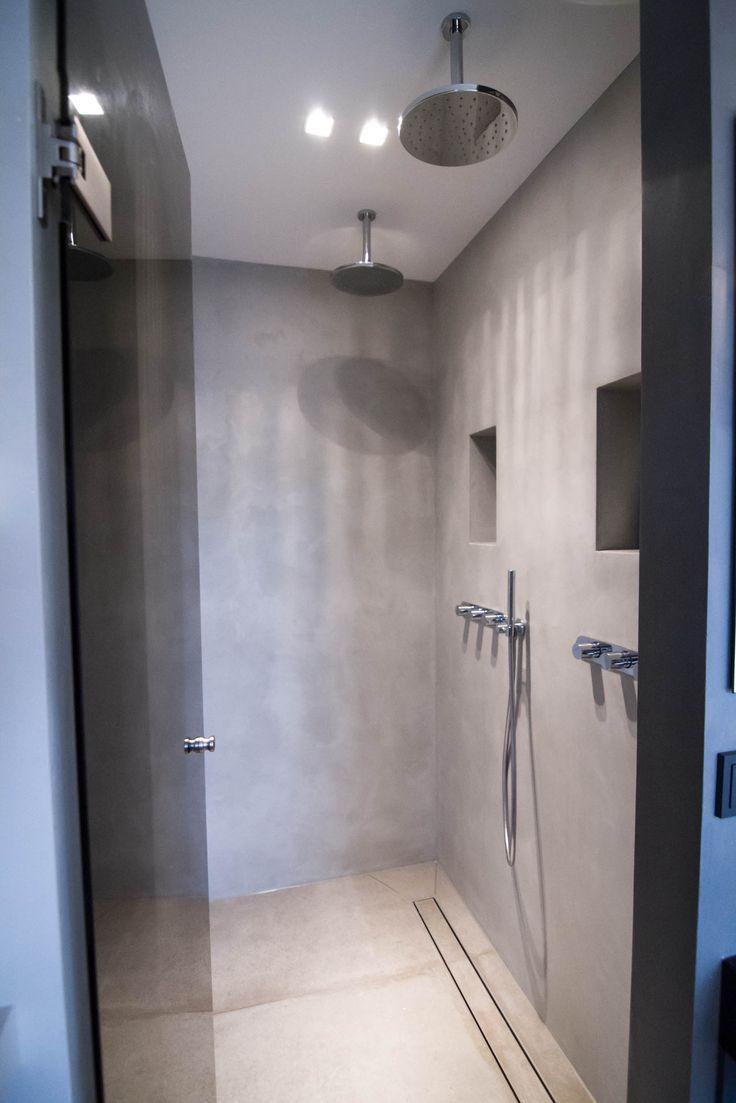 25 beste idee n over dubbele douche op pinterest dubbele douchekoppen douche en douche ontwerpen - Kleine badkamer met douche al italiaanse ...