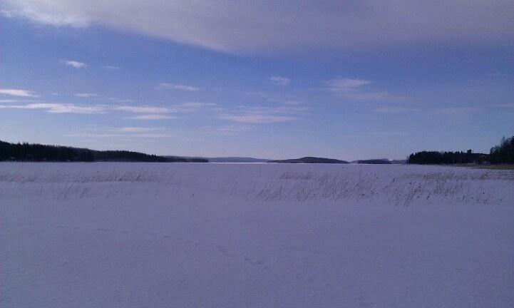 Lake Päijänne in March 2013 - long winter