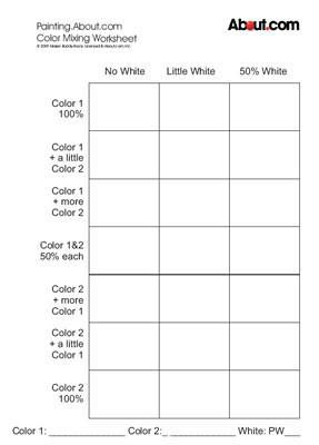 art worksheet color mixing i may try using this for a visual aid on - Free Printable Art Worksheets