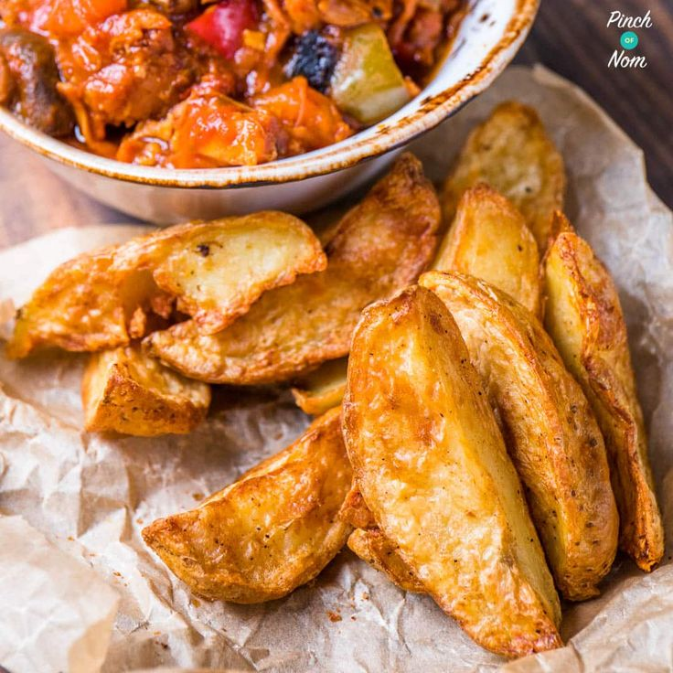 These Syn Free Rustic Potato Wedges are a fab Slimming World side dish, and really, really tasty! You can make them as spicy as you like.