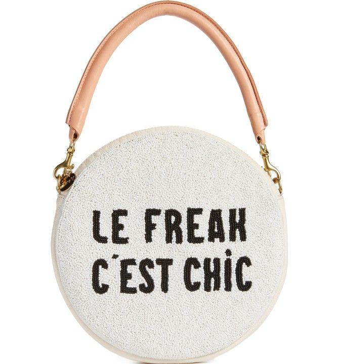 Main Image - Clare V. Le Freak Beaded Circle Clutch