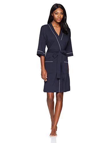 378fd4c588 Mae Women s French Terry Kimono Knee-Length Robe at Amazon Women s Clothing  store