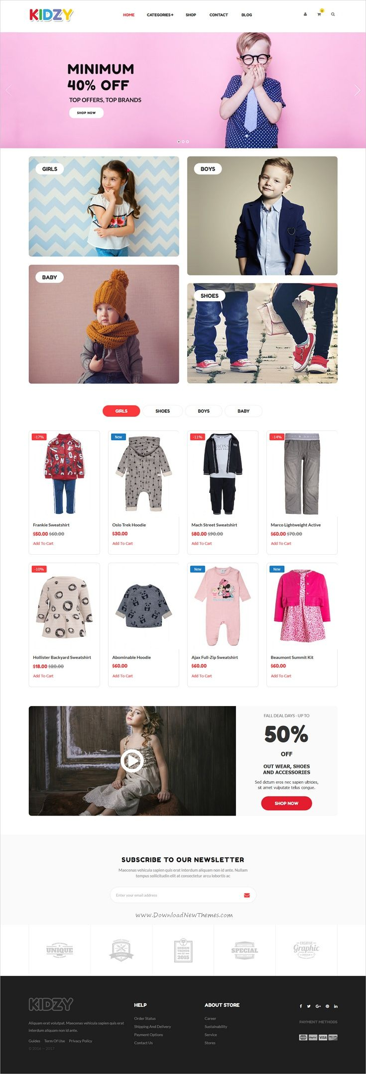 Xshop is stylish and modern design 7in1 responsive #Magento theme for stunning #kids #babyshop #eCommerce website download now..