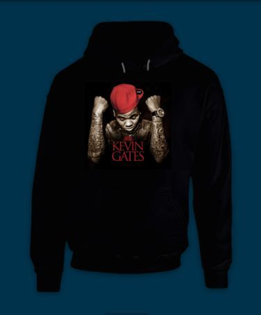 Hooded Pullover Kevin Gates BWA Bread Winners Association Cover | VILIONSHOP - Clothing on ArtFire