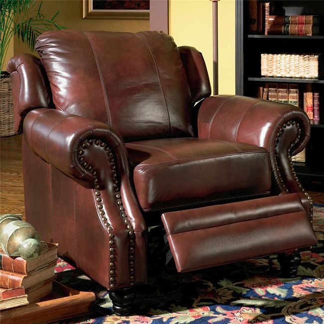 coaster furniture tritone brown top grain leather recliner chair lowest price online on all coaster furniture tritone brown top grain leather