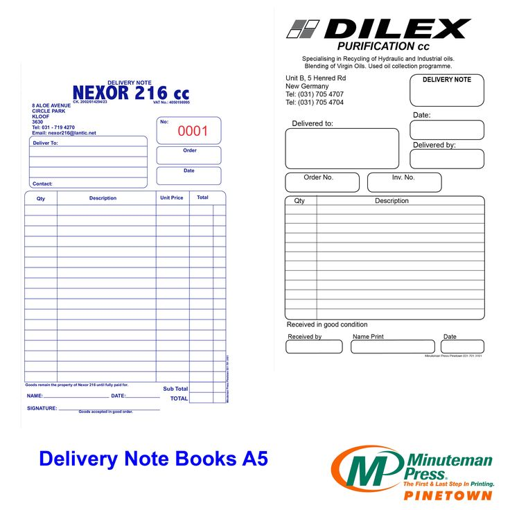 Forms #Design #Business Delivery Note Books Pinterest Form - delivery note template word