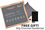 Coop Home Goods  Natural Moso Bamboo Charcoal Deodorizer Air Purifier- 250 grams with FREE 30g sachet  Removes odors allergens and pollutants.
