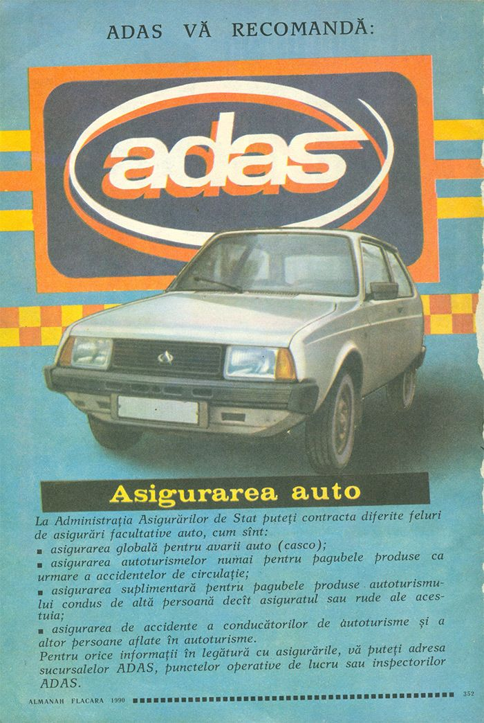 Reclama ADAS - #retro #advertising #romania