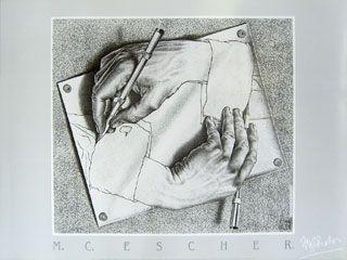Classic M.C. .Escher - Drawing hands 1948