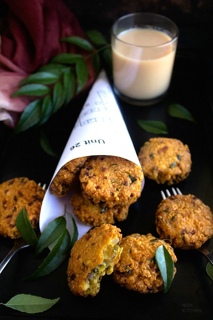 Parippu Vada | Masala Vada| South Indian Lentil Cakes