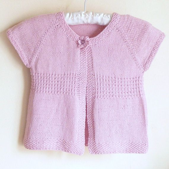 Knitting pattern (by Ceradka on Etsy). Seamless Top Down Baby Girl cardigan vest sweater