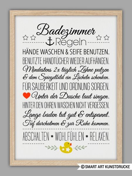 """BAD HAUSORDNUNG"" Kunstdruck"