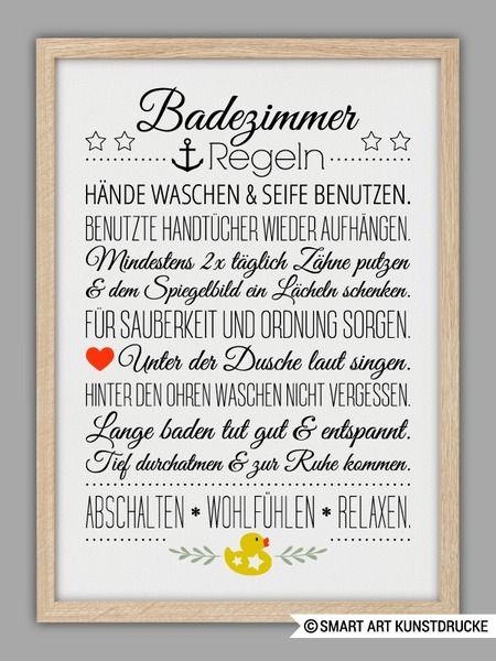 """""""BAD HAUSORDNUNG"""" Kunstdruck von SMART ART Kunstdrucke ® auf DaWanda.com"""