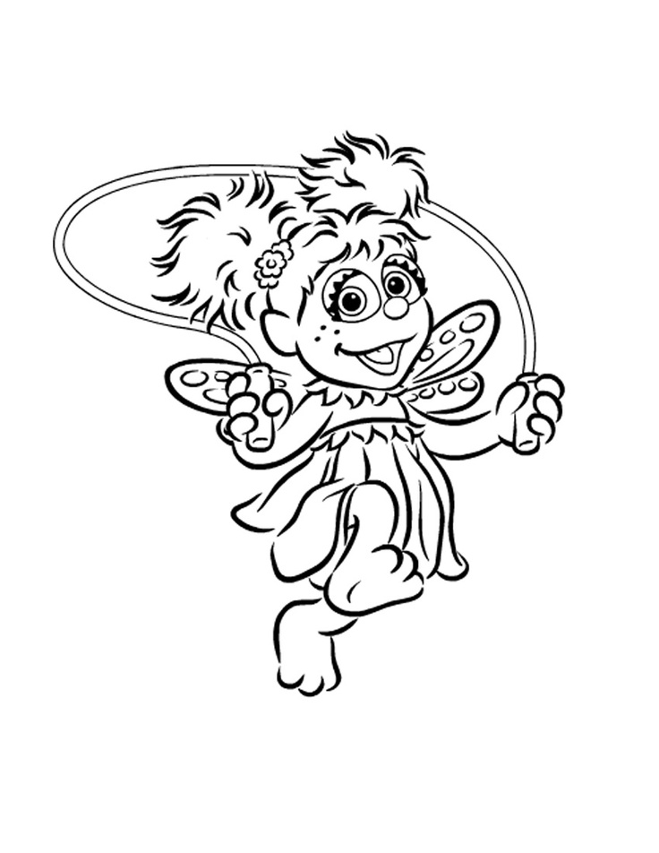 Sesame Street Abby Pages Coloring Pages