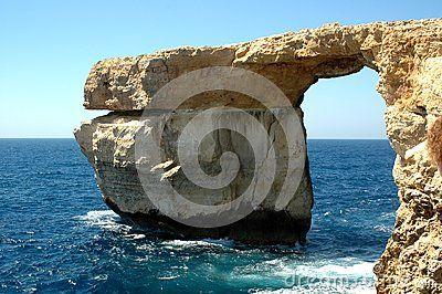 The wonderful arc on the blue sea around Malta
