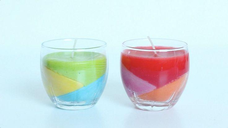 Glazen waarin kaarsen hebben gezeten, maak je zelf weer als nieuw. Met oud kaarsvet, waskrijtjes en een lont maak je binnen een paar uur een nieuwe kaars. Be...