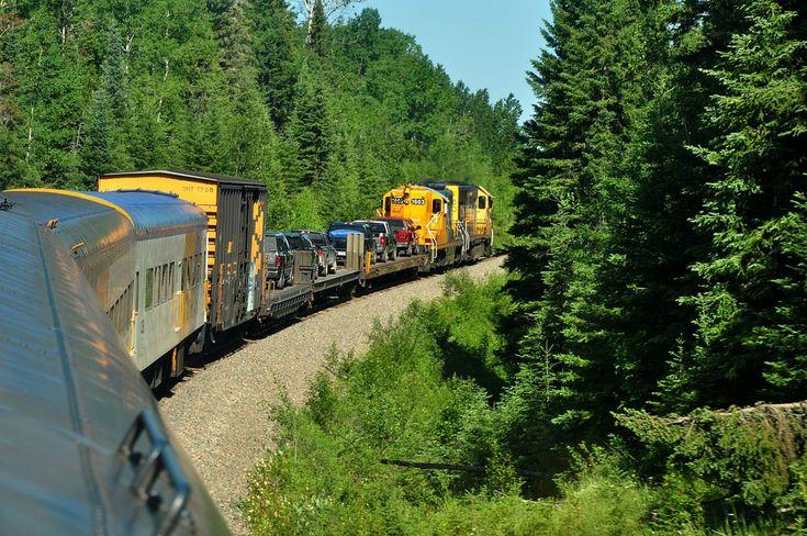 From Cochrane, Ontario to Moosonee, near James Bay, by rail on the Polar Bear Express