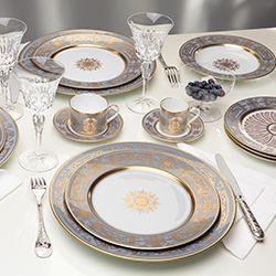 Bernardaud - Collection Aux Rois Flanelle - #bernardaud #tablesetting #tablescape