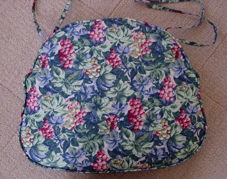 Chair seat cushion cover with ties your own fabric for Chair cushion covers with ties