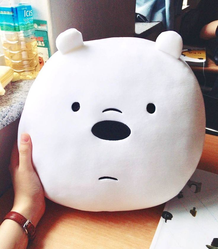 "We Bare Bears (@webarebears.official) en Instagram: ""Tag someone who would love this pillow ❄ #icebear #pillow #sleep #cute"""