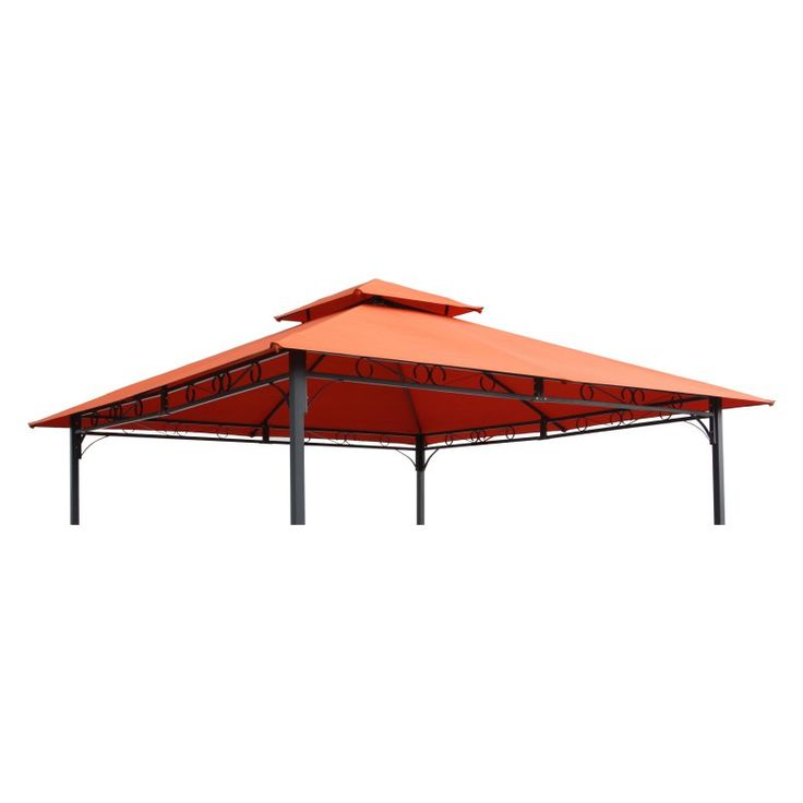 International Caravan Mesa 10 ft. 2-Tiered Vented Outdoor Gazebo Canopy Replacement Top