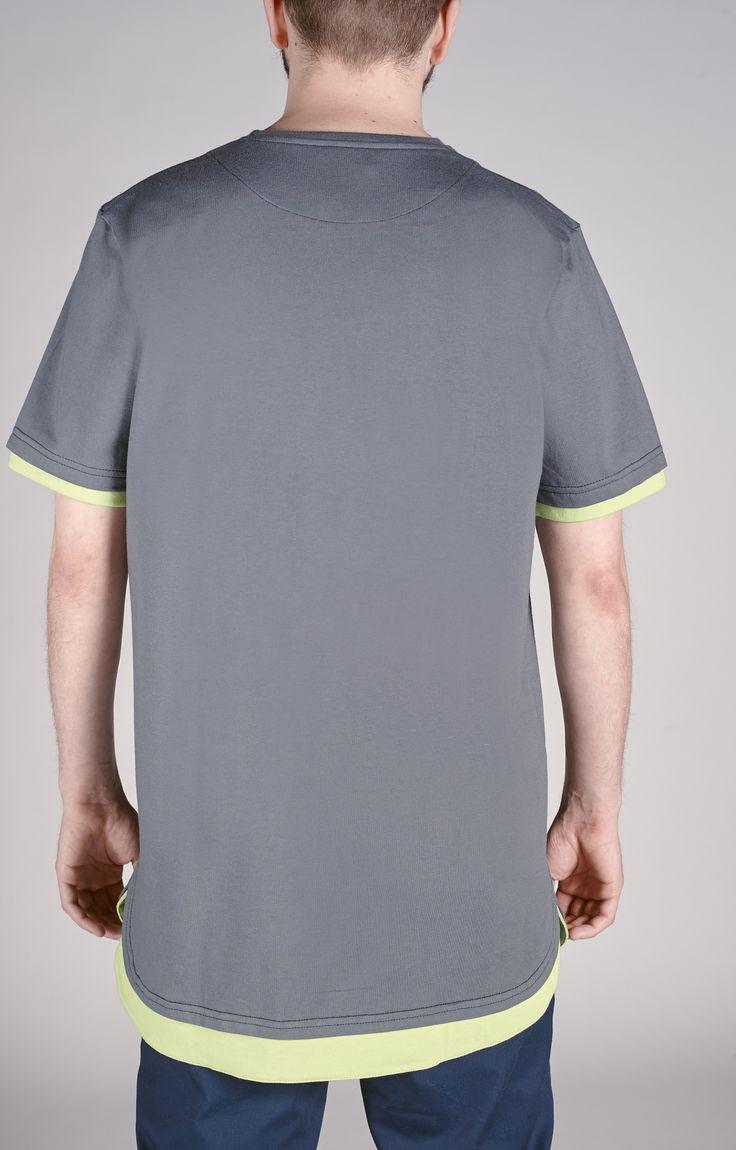 Custom cut gray tshirt. Amokrun style with #street spirit. www.amokrun.com