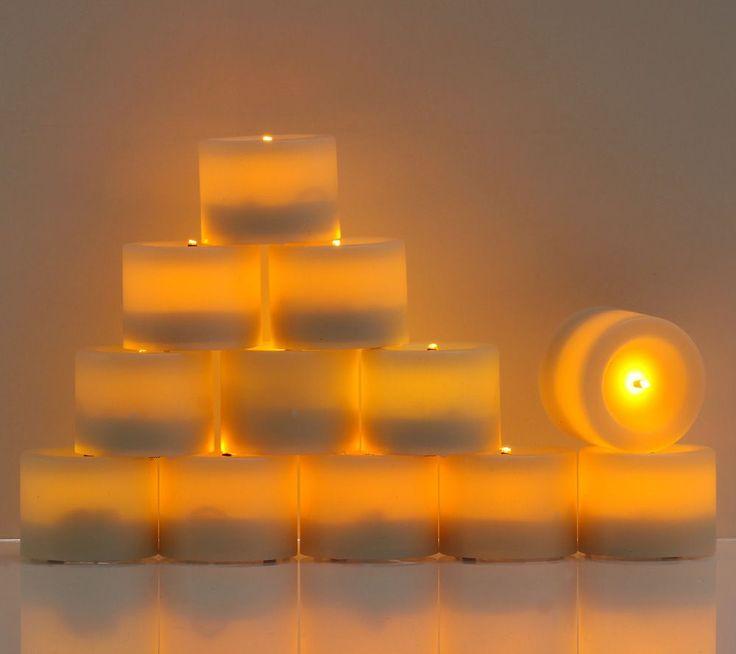 ELAMBIA Flammenlose Teelichter Timer & Glimmdocht 12 Stück 27,28€