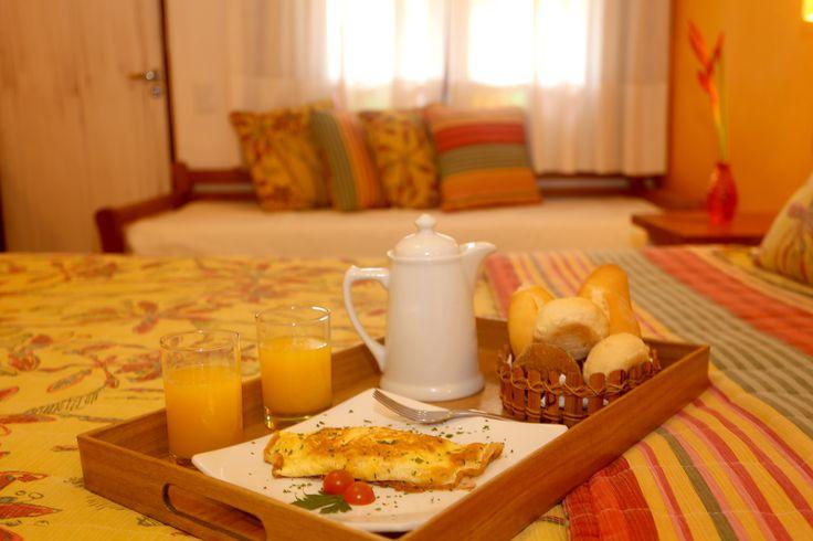 Room service... Que tal um café da manhã no quarto?