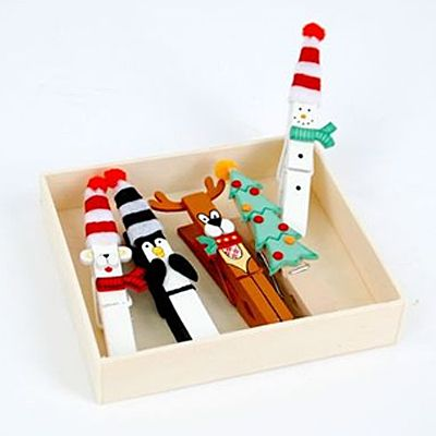 #Christmas clothes pins #uMAKE when scraps pins and imagination #uTAKE so good!