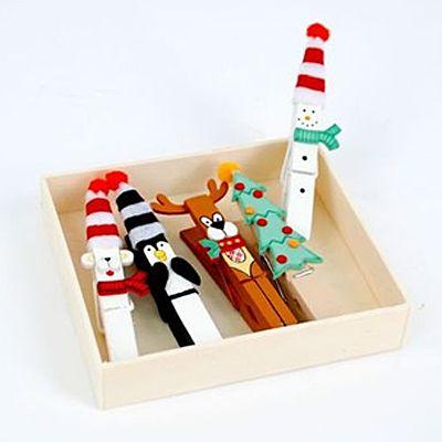 #Christmas clothes pins #uMAKE when scraps pins and imagination #uTAKE so good!