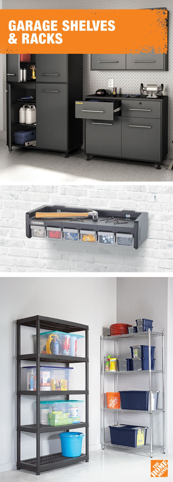 Heavy duty supplies call for heavy duty shelving. For more  storage solutions, visit  homedepot.ca: http://hdepot.ca/2wh4REA
