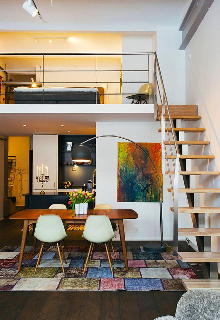 Interior design | Apt8i Decor Inspiration | Mezzanine, Mezzanine bedroom, Bedroom loft