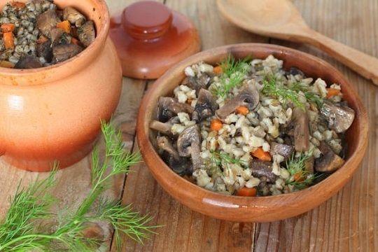 Перловка в духовке с овощами