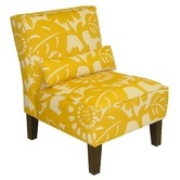 "Skyline Furniture""Armless Chair in Gerber Sungold: Living Rooms, Color, Slippers Chairs, Events, Master Bedrooms, Furniture, Armless Chairs, Accent Chairs, Yellow Chairs"