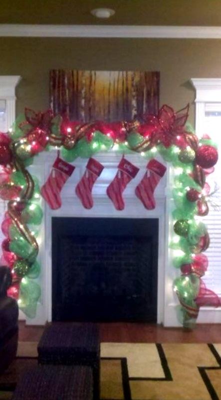 Christmas mantle...