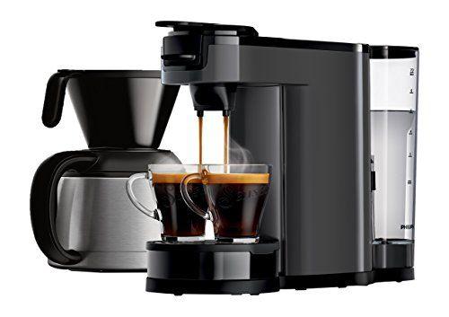 Senseo Switch Machine à café: Technologie 2 en 1 : profitez d'un café filtre ou à dosettes en une seule Machine Verseur en acier inoxydable…