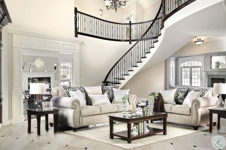 Sinatra Cream Living Room Set In 2020 Living Room Sets Sofa Set French Country Living Room