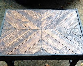 coffee table,reclaimed wood coffee table,rustic coffee table,end table,pallet furniture,barn wood furniture,chevron,rustic decor,table,